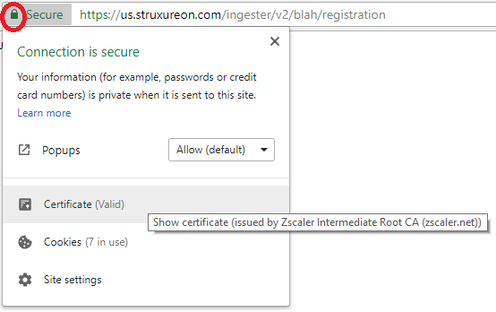 How to solve the Gateway untrusted certificate chain error